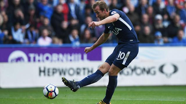 "After a double against Huddersfield, Tottenham striker Harry Kane said of his September: ""It is probably the best month I have had."""