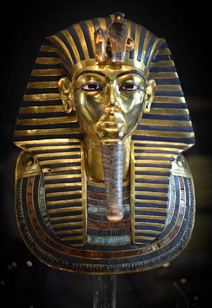The burial mask of Pharaoh Tutankhamun -- who ruled Egypt from 1334 to 1324 BC (AFP Photo/Mohamed el-Shahed)