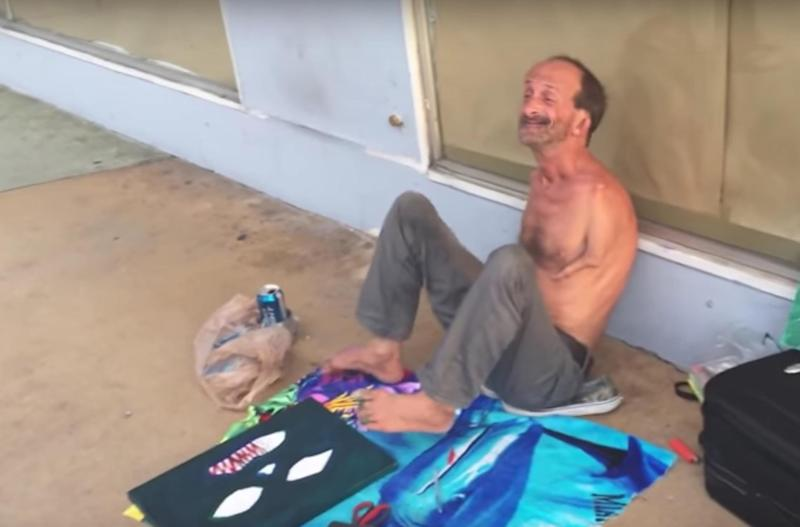 Jonathan Crenshaw, a Miami street artist with a reportedly troubled past who paints using his feet, has become a local well-known figure in Miami Beach: YouTube