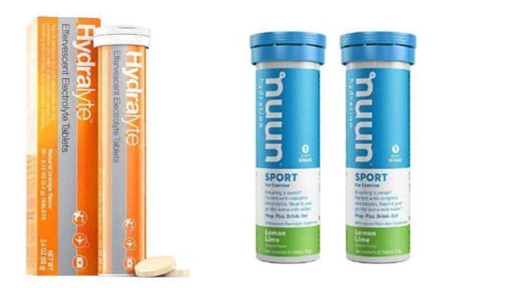 hydralyte and nuun electrolyte tablets