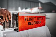 The black box, also known as the Flight Data Recorder, is actually painted bright orange. The heat-resistant paint used to coat the boxes' exteriors comes in a highlighter-orange hue, which also happens to make them easier to find in case of an accident.