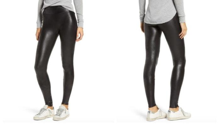 Fake the rockstar leather look with these Spanx leggings that won't stop selling out.