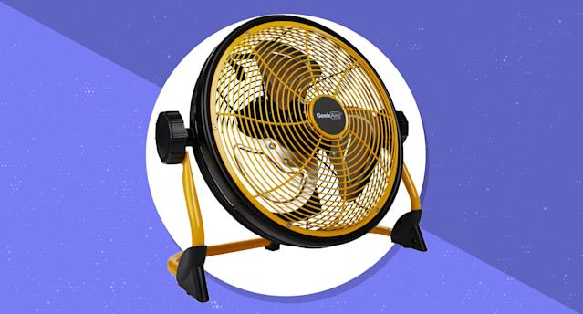 The Geek Aire rechargeable fan goes anywhere you go, helping you keep your cool. (Photo: HSN)