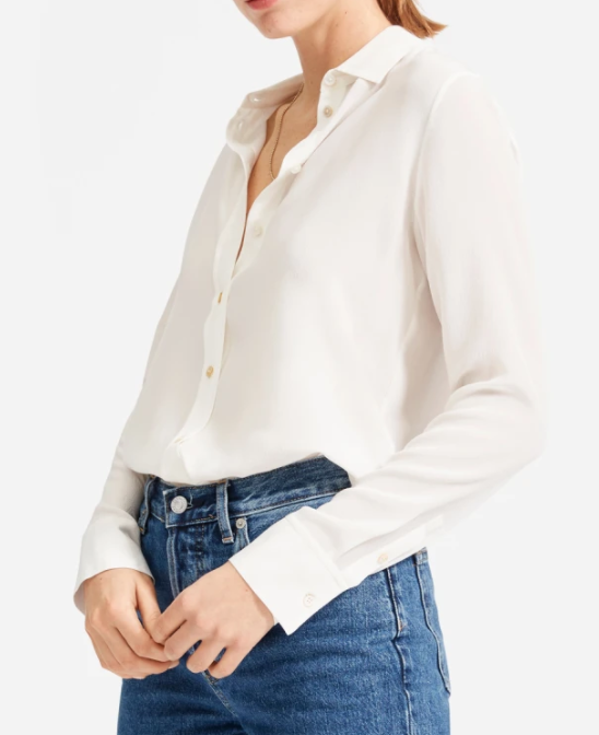 Everlane Clean Silk Relaxed Shirt