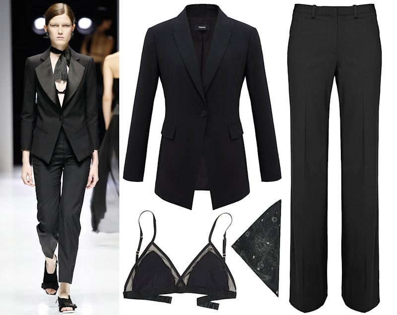 How To Recreate Lanvin 39 S Nsfw Twist On The Classic Suit