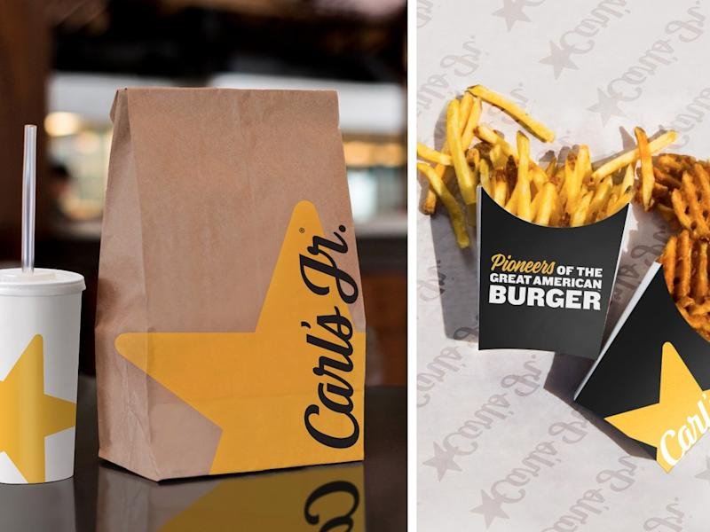 Carl's Jr. new packaging