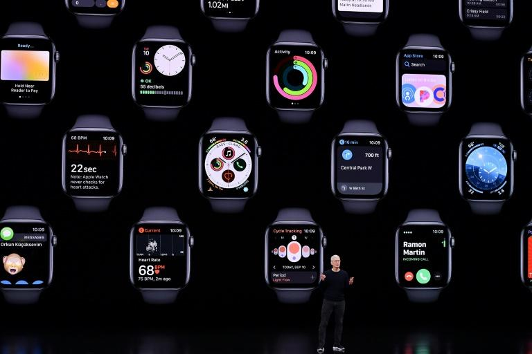 """The fifth-generation Apple Watch has new features including ambient noise monitoring and a """"compass"""" to keep users properly oriented (AFP Photo/Josh Edelson)"""