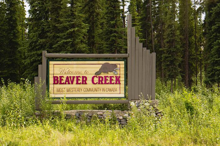 The welcome sign at Beaver Creek, Yukon. Representational image. (Getty Images)