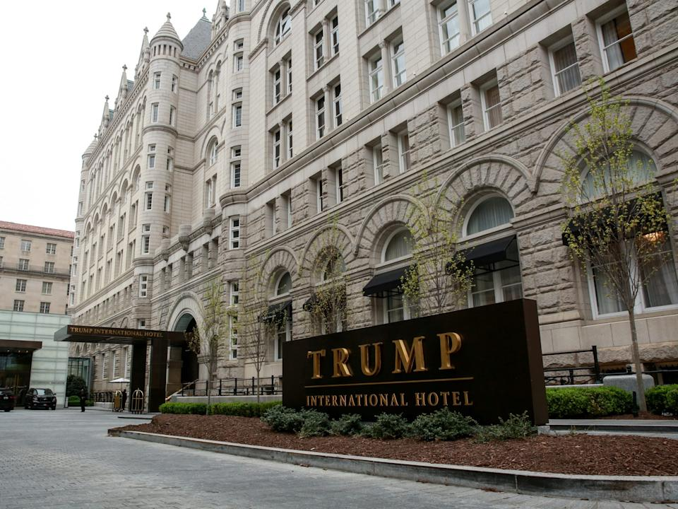 FILE PHOTO: A general view of the Trump International Hotel seen in Washington, U.S., April 18, 2019. REUTERS/Amr Alfiky