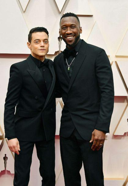 PHOTO: Mahershala Ali and Rami Malek arrive at the Oscars, Feb. 9, 2020, in Hollywood, Calif. (Amy Sussman/Getty Images)