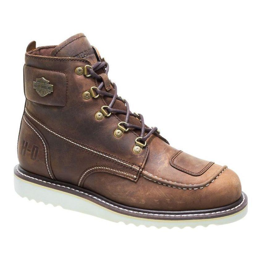 """<p><strong>Harley-Davidson</strong></p><p>harley-davidsonfootwear.com</p><p><strong>$137.95</strong></p><p><a href=""""https://go.redirectingat.com?id=74968X1596630&url=https%3A%2F%2Fwww.harley-davidsonfootwear.com%2FUS%2Fen%2Fhagerman%2F31981M.html%3Fdwvar_31981M_color%3DD93470%23cgid%3Dmen-collection-riding%26start%3D1&sref=https%3A%2F%2Fwww.menshealth.com%2Fstyle%2Fg37131767%2Fbest-motorcycle-boots%2F"""" rel=""""nofollow noopener"""" target=""""_blank"""" data-ylk=""""slk:BUY IT HERE"""" class=""""link rapid-noclick-resp"""">BUY IT HERE</a></p><p>At some point, the distinction between subtypes of boots becomes arbitrary. These moto-meets-work boots are durable, secure and comfortable enough for any intense activity you might wear them to do. </p>"""