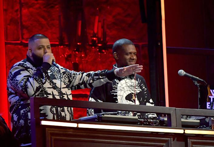 DJ Khaled speaks onstage during the 2017 MTV Movie And TV Awards at The Shrine Auditorium on May 7, 2017 in Los Angeles, California.
