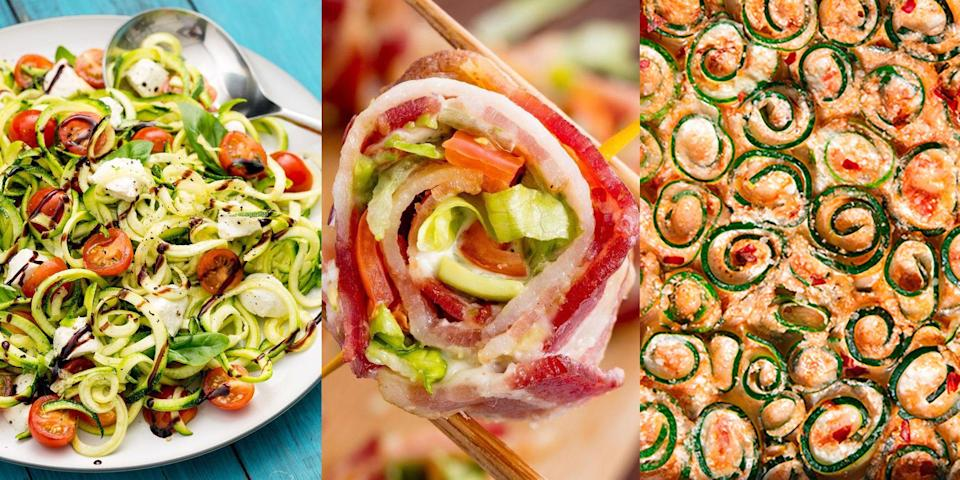 """<p>You're on a low carb diet but not quite sure what that means? Don't worry! Because we've rounded up our all-time favourite low carb recipes that are easy to make and don't skimp on flavour. We're talking <a href=""""https://www.delish.com/uk/cooking/recipes/a32027615/pizza-zucchini-boats-recipe/"""" rel=""""nofollow noopener"""" target=""""_blank"""" data-ylk=""""slk:Pizza Courgette Boats"""" class=""""link rapid-noclick-resp"""">Pizza Courgette Boats</a>, <a href=""""https://www.delish.com/uk/cooking/a34435205/blt-egglets-recipe/"""" rel=""""nofollow noopener"""" target=""""_blank"""" data-ylk=""""slk:BLT Egglets"""" class=""""link rapid-noclick-resp"""">BLT Egglets</a> (they're amaze) and <a href=""""https://www.delish.com/uk/cooking/recipes/a31277945/low-carb-flatbread-recipe/"""" rel=""""nofollow noopener"""" target=""""_blank"""" data-ylk=""""slk:Low Carb Flatbread"""" class=""""link rapid-noclick-resp"""">Low Carb Flatbread</a>. Whether it's for breakfast, lunch or dinner, we've got the inspiration you need to maintain a healthy (and delicious) low carb diet. </p>"""