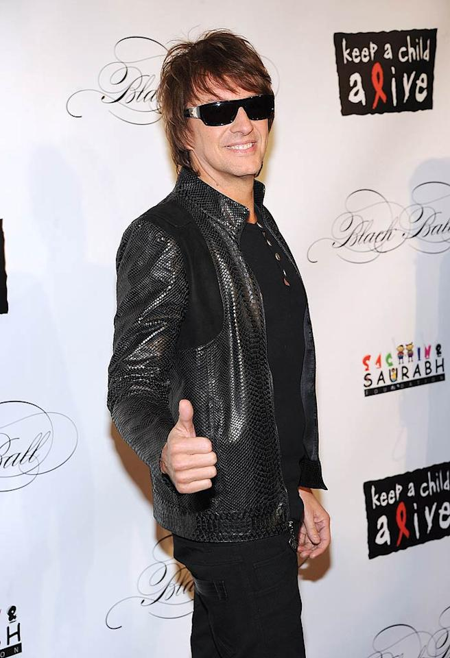 """Richie Sambora, who also rocked onstage at the soiree, avoided questions on the red carpet about whether or not he and former fling Denise Richards have reunited. """" When asked by """"Access Hollywood,"""" he answered, """"Things are good. And I'm happy, that's what I'm saying."""" Sounds like a yes! (11/3/2011)"""