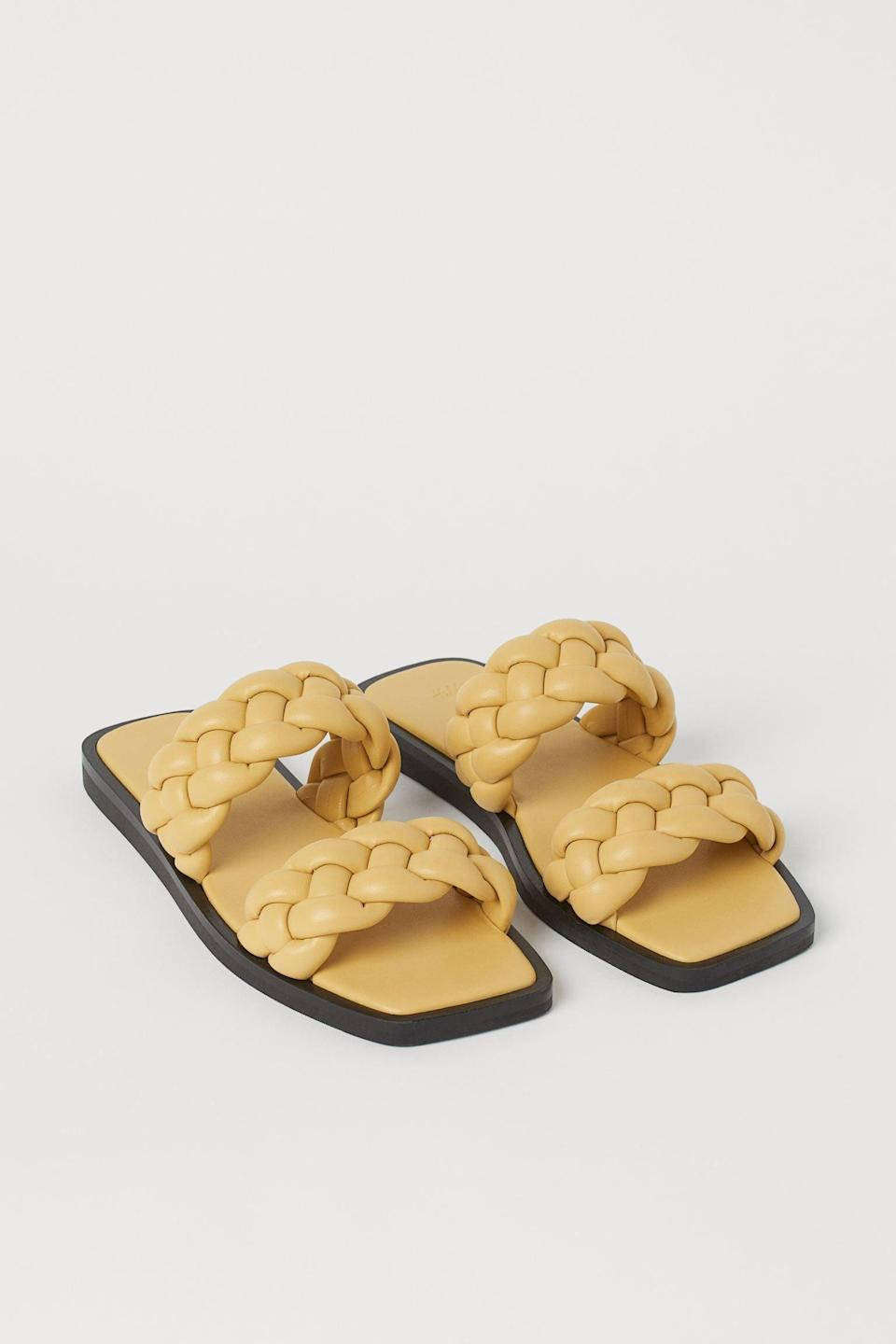 <p>These <span>Braided Slides</span> ($25) make eye-catching and highly covetable additions to your summer shoe collection.</p>