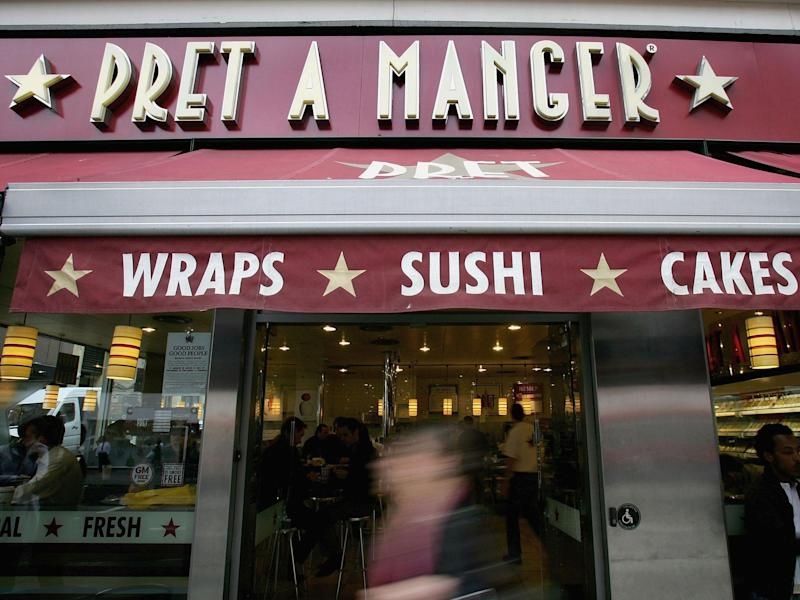 Pret a Manger has about 300 UK restaurant and an additional 100 globally in countries such as France and the US: Getty