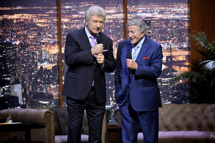Alec Baldwin, Tony Bennett (Photo: Peter Kramer/NBC)