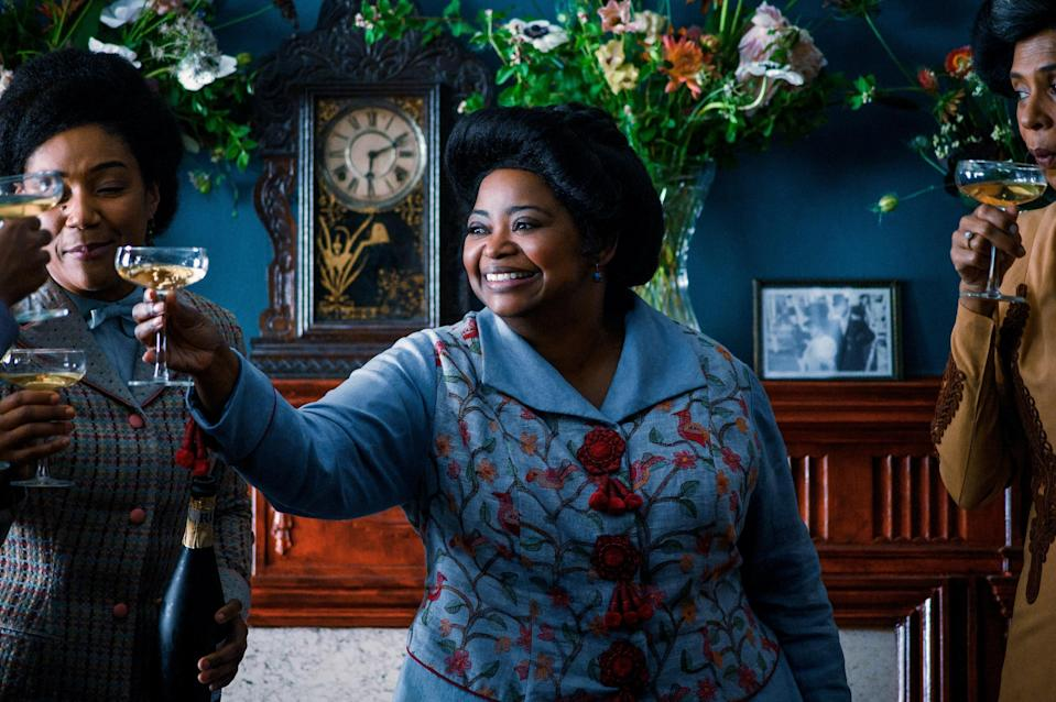 """Octavia Spencer stars in this biopic series (which she also co-produced alongside NBA star LeBron James) as Madam C.J. Walker, whose hair-care advances for black women led to her becoming the first female self-made millionaire. It's a fascinating story and one that not enough people have been aware of—until now. <a href=""""https://www.netflix.com/watch/80202462?source=35"""" rel=""""nofollow noopener"""" target=""""_blank"""" data-ylk=""""slk:Streaming on Netflix"""" class=""""link rapid-noclick-resp""""><em>Streaming on Netflix</em></a>"""