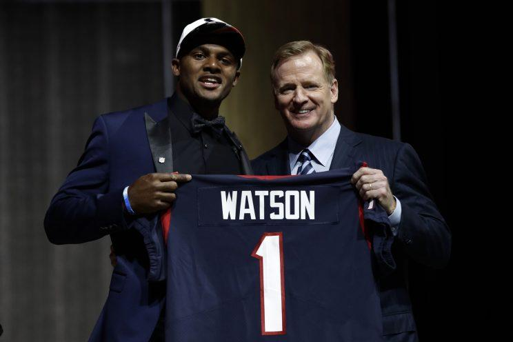 The Texans traded up to draft quarterback Deshaun Watson. (AP)