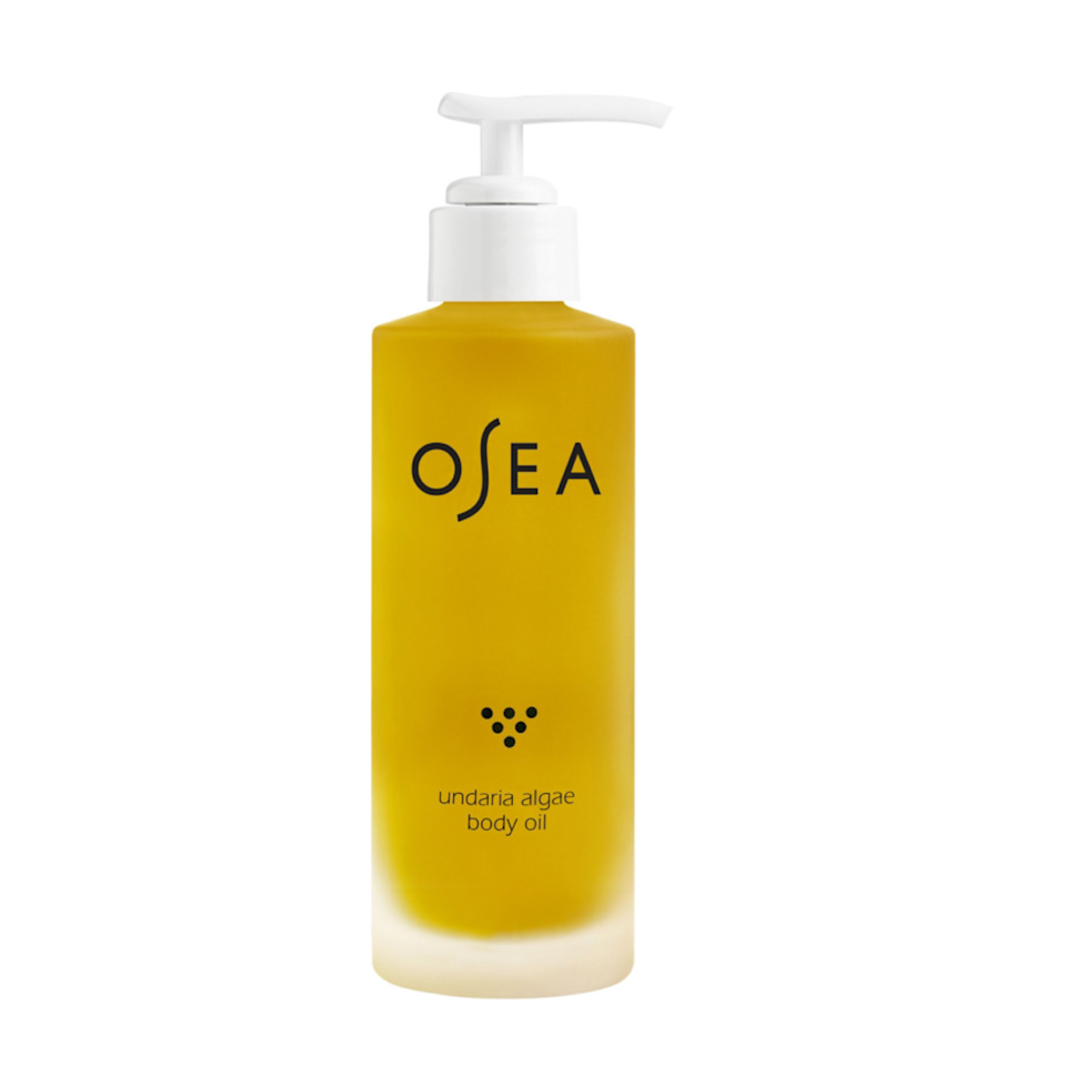 """This isn't a new launch but it was my first time trying it out this body oil by OSEA and I'm in love with the richness. Seaweed and berries, like acai, come together to create an extremely hydrating seal that is perfect for applying post-shower. Since I've started using it, my skin looks more firm and radiant, not to mention smells amazing. – <em>M.O.</em> $48, Ulta. <a href=""""https://shop-links.co/1744822244920263272"""" rel=""""nofollow noopener"""" target=""""_blank"""" data-ylk=""""slk:Get it now!"""" class=""""link rapid-noclick-resp"""">Get it now!</a>"""