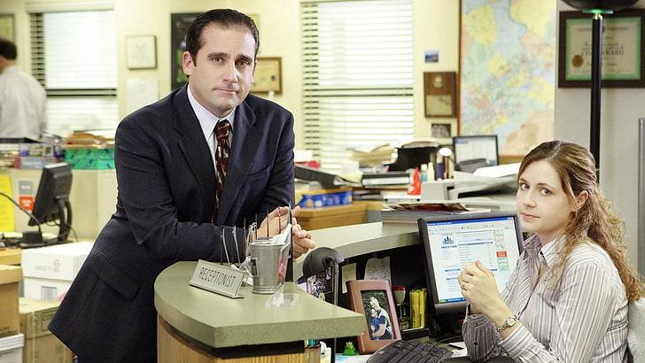 Steve Carell and Jenna Fischer in 'The Office' (NBC)