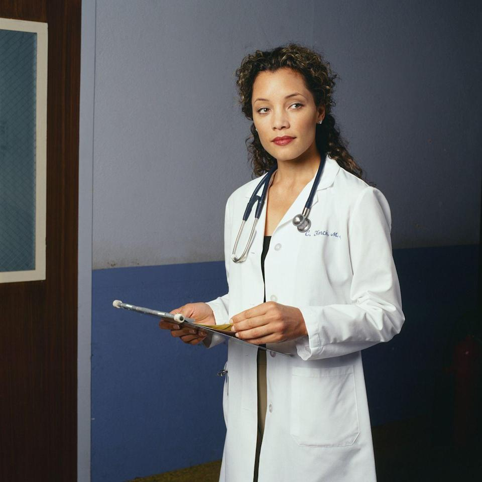<p>Michael Michele appeared on <em>ER </em>from 1999 until 2001 as Dr. Cleo Finch. The actress, who earned her breakout role in Eddie Murphy's <em>Harlem Nights</em>, went on to star in <em>How to Lose a Guy in 10 Days </em>and <em>Dark Blue,</em> and as of late is a regular cast member on the <em>Dynasty </em>reboot. </p>