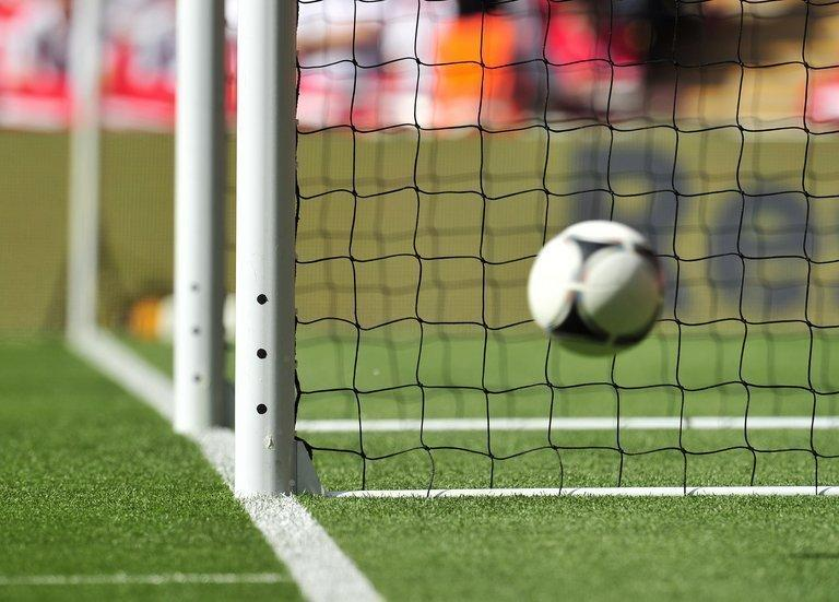 Goal-line technology is tested during England's match against Belgium at Wembley Stadium in London on June 2, 2012