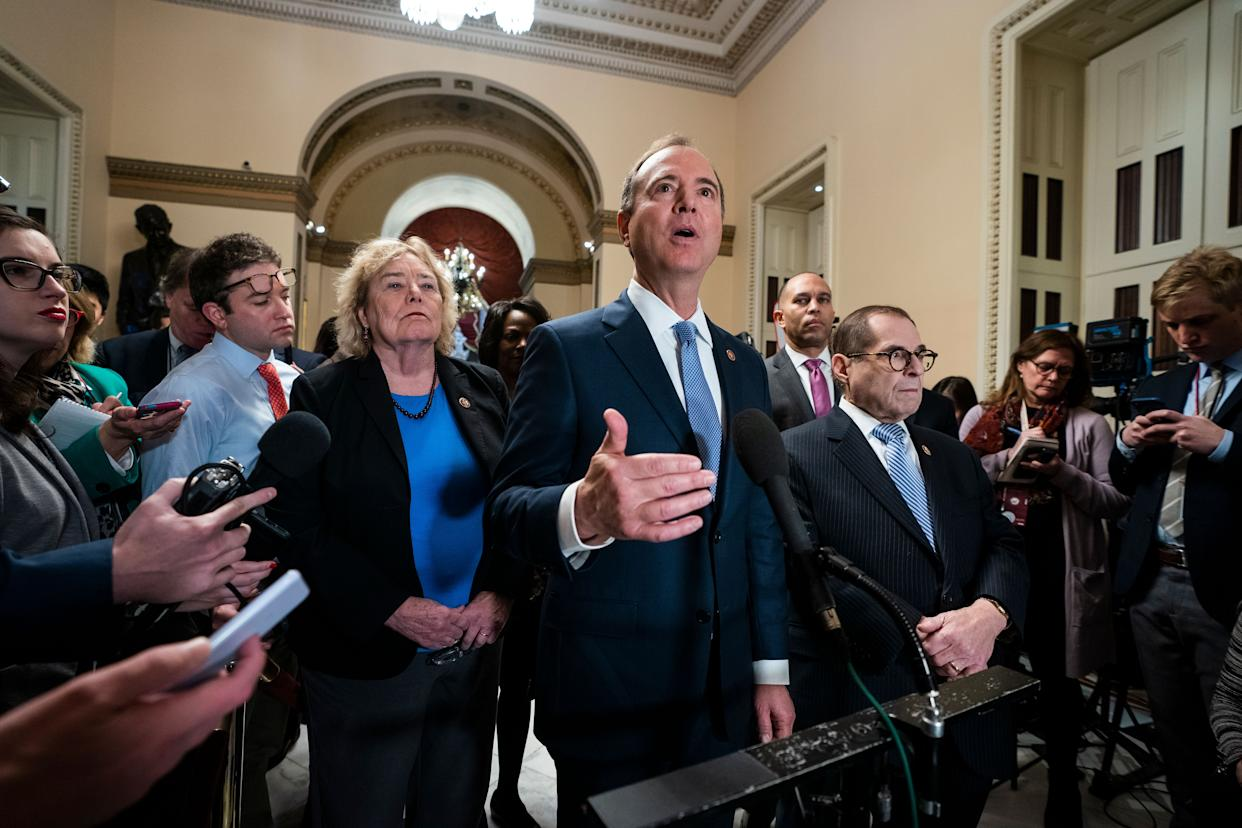 Democratic House impeachment manager Adam Schiff speaks at the Capitol on Tuesday. (Photo: Jim Lo Scalzo/EPA-EFE/Shutterstock)