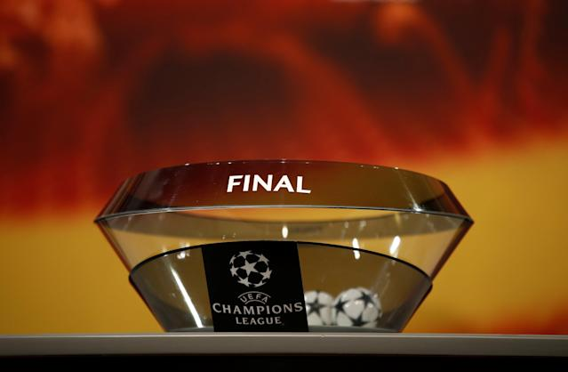 Soccer Football - Champions League Semi-Final Draw - Nyon, Switzerland - April 13, 2018 General view of the pot for the Final draw REUTERS/Stefan Wermuth