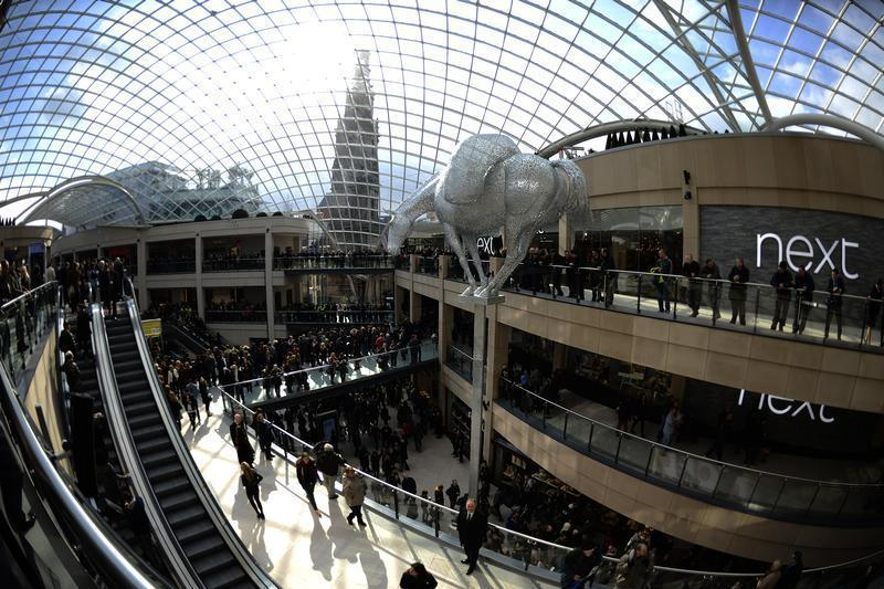 A general view of the newly opened Trinity shopping centre in Leeds