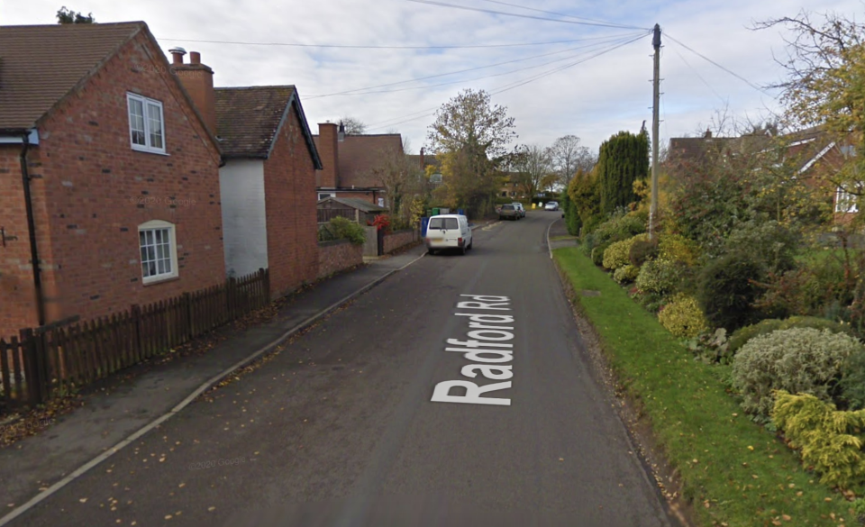 Short was drinking in Flyford Flavell. (Google Maps)