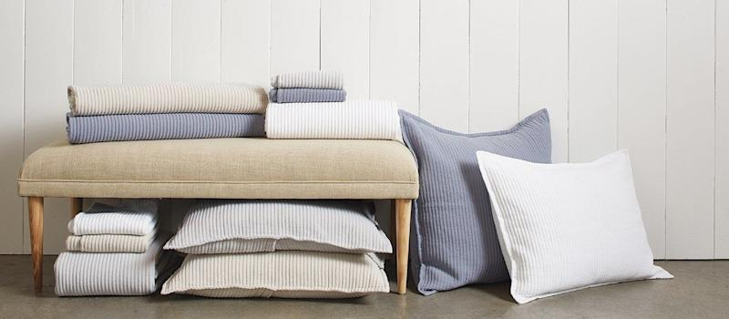 "<a href=""https://www.parachutehome.com/"" target=""_blank"">20% all products</a> except gift cards, gift card sets, and donations never on sale."