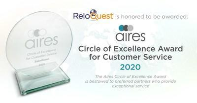 Aires Circle of Excellence Award for Customer Service