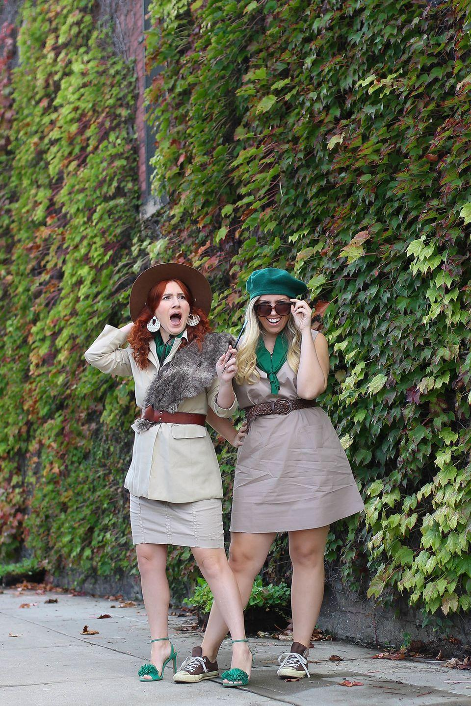 """<p>Beverly Hills, what a thrill! You're sure to earn merit badges in style this Halloween when you DIY your own Phyllis and Hannah Nefler costumes. </p><p><strong>See more at <a href=""""http://livingaftermidnite.com/2018/10/3-nostalgic-halloween-costumes-you-can-pull-together-quickly.html"""" rel=""""nofollow noopener"""" target=""""_blank"""" data-ylk=""""slk:Living After Midnite"""" class=""""link rapid-noclick-resp"""">Living After Midnite</a>.</strong></p><p><a class=""""link rapid-noclick-resp"""" href=""""https://go.redirectingat.com?id=74968X1596630&url=https%3A%2F%2Fwww.walmart.com%2Fip%2FWomen-Pleated-Rhombus-Head-Scarf-Wraps-Scarves-Neckerchief-Bandana-Solid-Color-Blue%2F379593444&sref=https%3A%2F%2Fwww.thepioneerwoman.com%2Fholidays-celebrations%2Fg32645069%2F80s-halloween-costumes%2F"""" rel=""""nofollow noopener"""" target=""""_blank"""" data-ylk=""""slk:SHOP GREEN NECKERCHIEFS"""">SHOP GREEN NECKERCHIEFS </a></p>"""