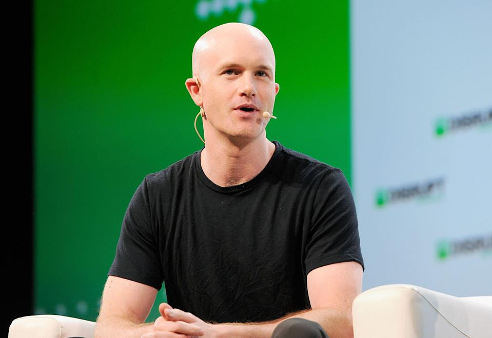 Coinbase Co-founder and CEO Brian Armstrong speaks onstage during Day 3 of TechCrunch Disrupt SF 2018 at Moscone Center on September 7, 2018 in San Francisco, California. Photo: Steve Jennings/Getty Images for TechCrunch