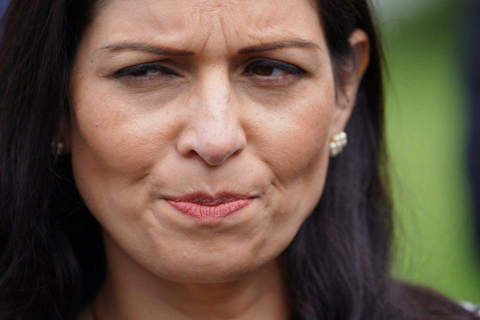 Home Secretary Priti Patel's department is said to be resistant to an earlier intervention over the HGV shortage (Ben Birchall/PA) (PA Wire)