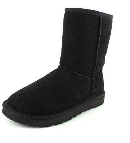 """<p><strong>UGG</strong></p><p>amazon.com</p><p><strong>$169.95</strong></p><p><a href=""""https://www.amazon.com/dp/B01AIHY7P8?tag=syn-yahoo-20&ascsubtag=%5Bartid%7C2164.g.32598715%5Bsrc%7Cyahoo-us"""" rel=""""nofollow noopener"""" target=""""_blank"""" data-ylk=""""slk:Shop Now"""" class=""""link rapid-noclick-resp"""">Shop Now</a></p><p>This updated Ugg boot is pre-treated to repel moisture. The pair still isn't meant for heavy snow or rain, but thanks to a sheepskin lining, it sure is cozy! </p>"""