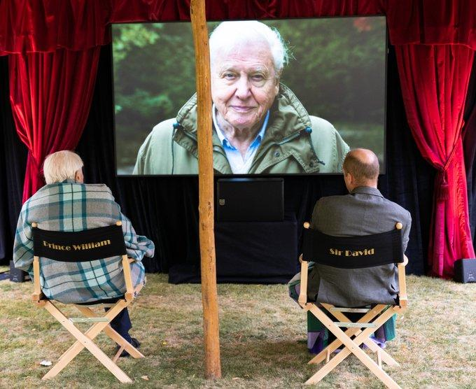 Sir David Attenborough, Prince William watch David Attenborough: A Life On Our Planet