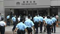 Scene outside Hong Kong court after man given 9 years jail for terrorism