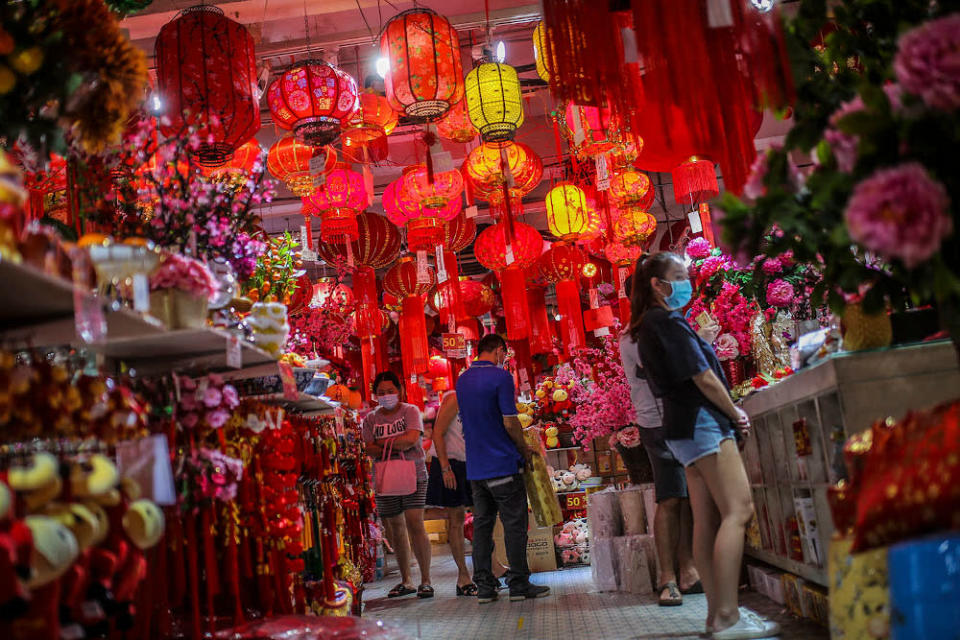 Those interviewed by Malay Mail said the ban on home visits have put a damper on the Chinese New Year festivities. — Picture by Hari Anggara