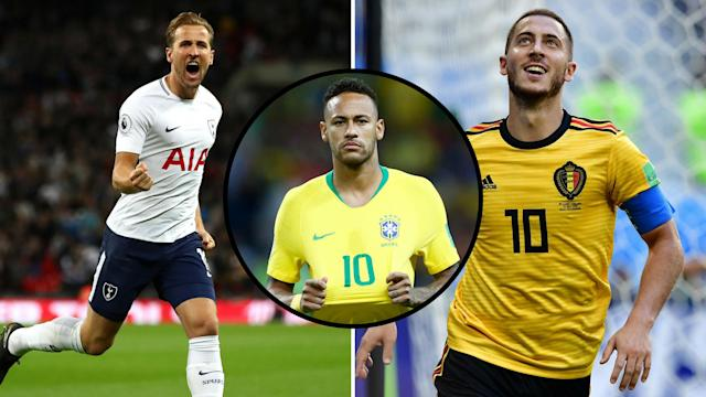 Harry Kane, Neymar and Eden Hazard