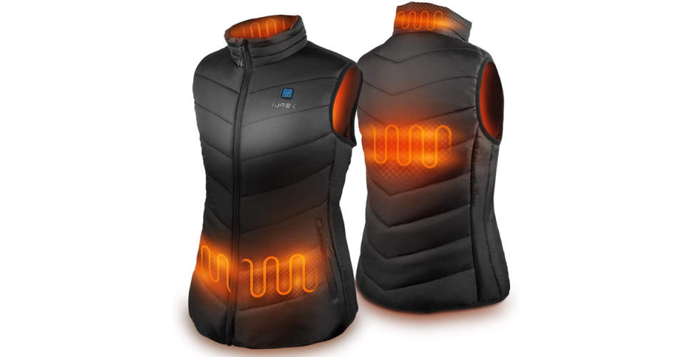 Iurek Women's Heated Vest with 10000mAh Power Bank (Photo: Amazon)