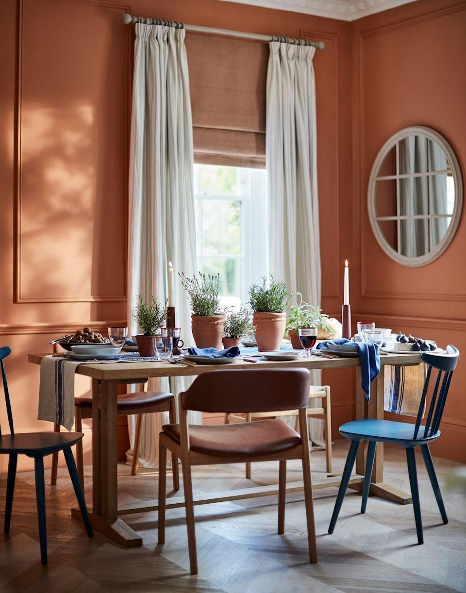 """<p>It might feel a little premature to be discussing those winter dining plans, but it's never too early to get your space into ship shape. As part of John Lewis' <a href=""""https://www.countryliving.com/uk/homes-interiors/interiors/a36092169/john-lewis-anyday-brand/"""" rel=""""nofollow noopener"""" target=""""_blank"""" data-ylk=""""slk:ANYDAY range"""" class=""""link rapid-noclick-resp"""">ANYDAY range</a>, you'll discover tables, stylish chairs and tableware at affordable prices. </p><p><strong>Follow Country Living on <a href=""""https://www.instagram.com/countrylivinguk/"""" rel=""""nofollow noopener"""" target=""""_blank"""" data-ylk=""""slk:Instagram"""" class=""""link rapid-noclick-resp"""">Instagram</a>.</strong></p>"""