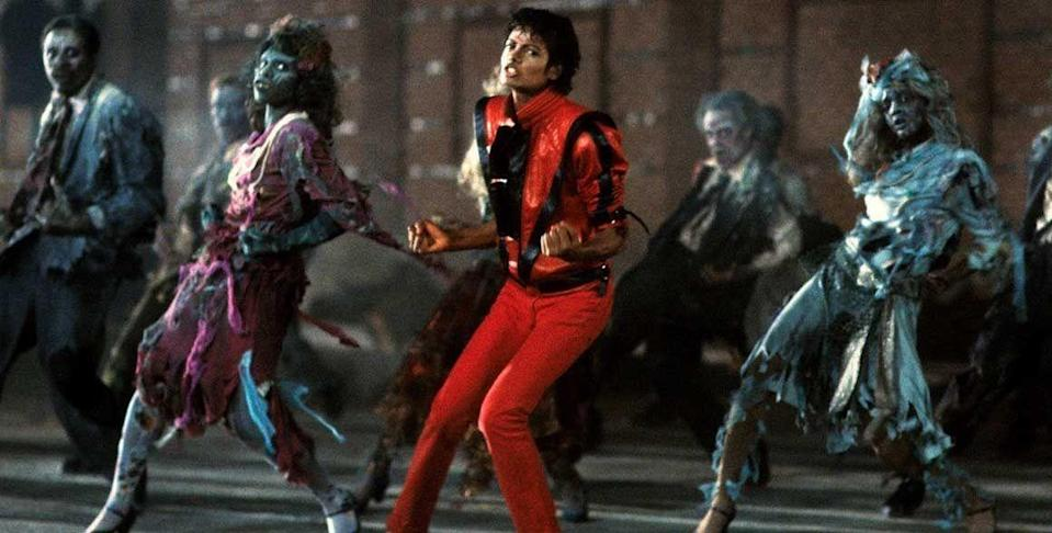 <p>Michael Jackson released his spooky 'Thriller' music video and created a monster. Directed by John Landis and released on <em>MTV</em>, the song and zombie dance sequence became a world-wide sensation. It won the 1984 Grammy award for Best Video Album, as well as the 1985 Grammy for Best Video, Long Form.</p>