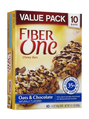 """<div class=""""caption-credit""""> Photo by: courtesy of soap.com</div><div class=""""caption-title""""></div><b>THE WINNERS</b> <br> <br> <b>Fiber One bar, Oats & Chocolate (1.4 oz) <br> The Good:</b> Nine grams of fiber, calcium-rich, and it's chocolate. <br> <b>The Bad:</b> High in carbs and sugar. <br> <b>The Bottom Line:</b> The extra fiber will keep you full."""