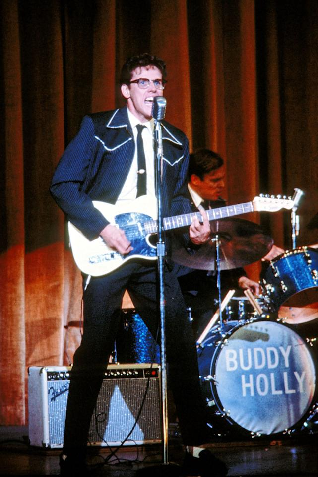 "<a href=""http://movies.yahoo.com/movie/1800042151/info"">THE BUDDY HOLLY STORY</a> (1978)  Actor: Gary Busey  Character: Buddy Holly  Note: Busey not only lost over 30 pounds to play the rail thin rock star, but he also did all of his own singing."