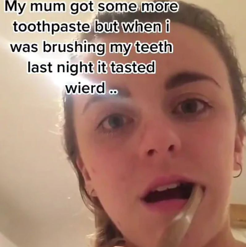 TikTok toothpaste fail video