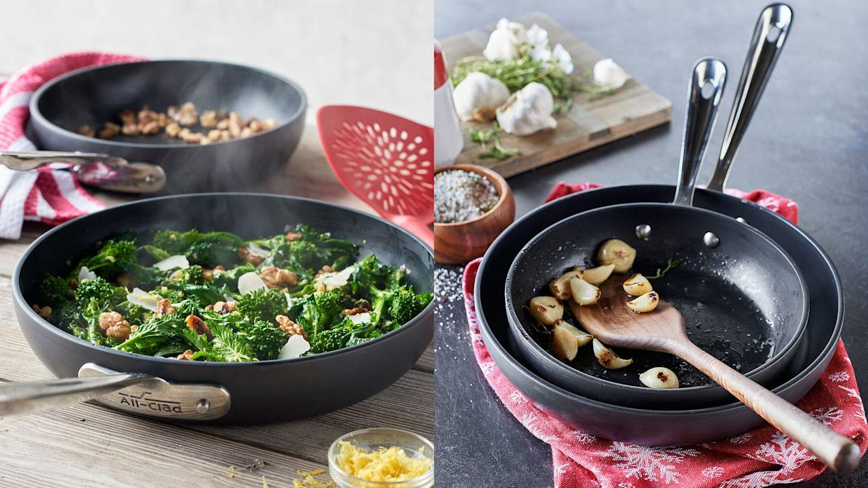 Saute your favorite foods with a set of iconic cookware.
