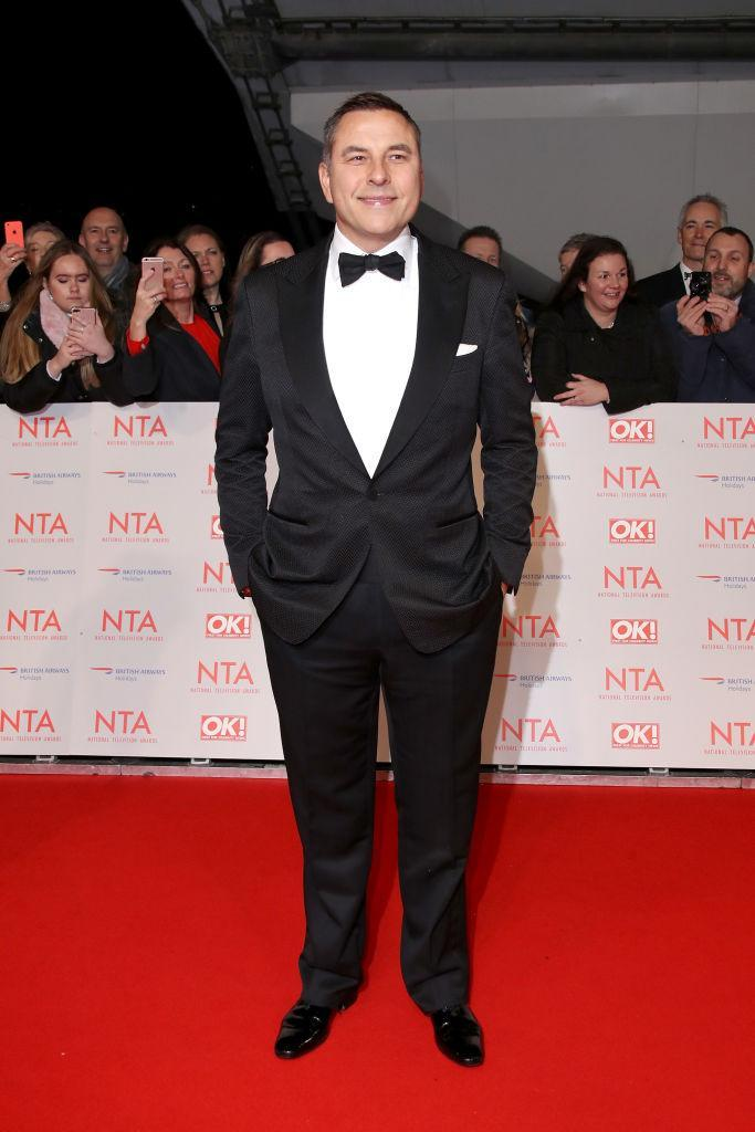 <p>David Walliams donned a monochrome tux for the 2018 National Television Awards. <em>[Photo: Getty]</em> </p>