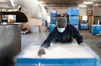 Large supplies of dry ice will be needed to keep some of the upcoming vaccines at the right temperature